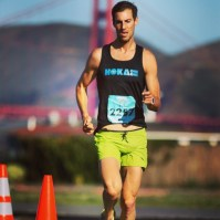 Erich Wegscheider at the 2015 Across the Bay 12k