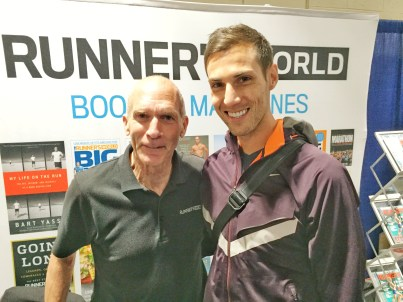 Erich Wegscheider with Bart Yasso at the 2016 Boston Marathon