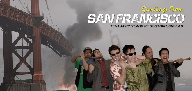 10 Years of Contour SF Postcard