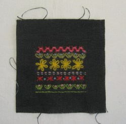 black fabric sampler