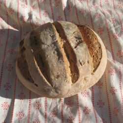 spelt and seed sourdough bread
