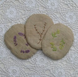 selection of botanical embroideries