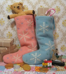 pure wool fabric Christmas stockings