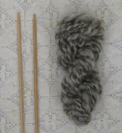 my first ever hand spun wool