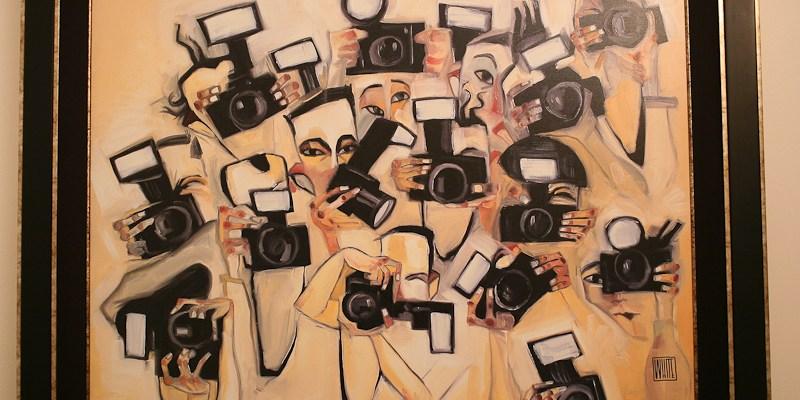 "Todd White ""Paparazzi"" Painting"