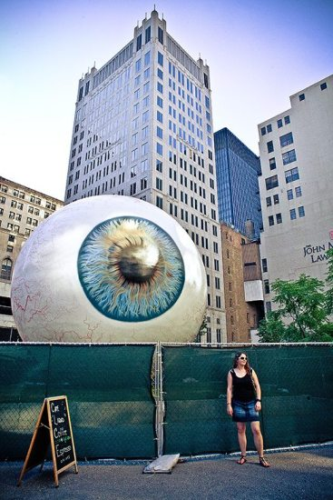 """Eye Spy"" - Chicago, 2010. Spotted when walking around the streets of Chicago."