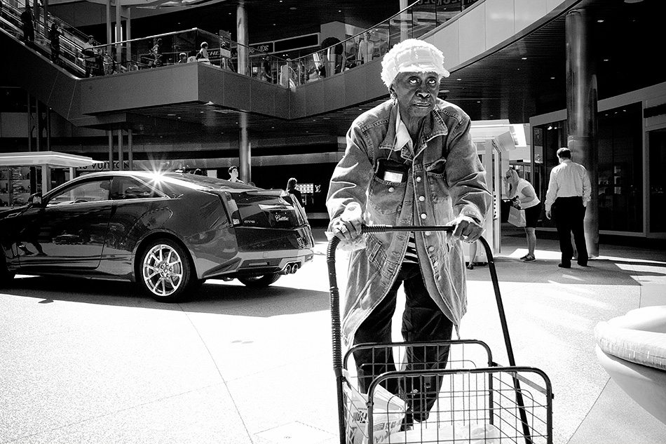 Pushing Along Shooting From the Hip Street Photography