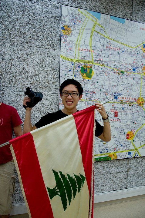 Me and the Lebanese Flag in beirut Lebanon