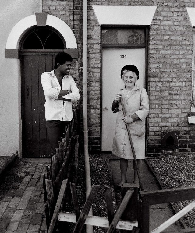 """""""1980.  Good neighbours. Annie Gertrude Blunt and Jim Shahid Shah. Both departed"""" - Chris Porsz"""