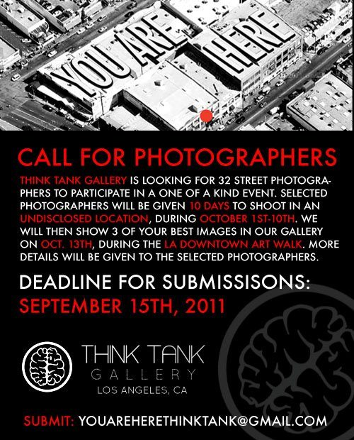 Call for Photographers: Think Tank Gallery Looking for for 32 Street Photographers in Los Angeles!