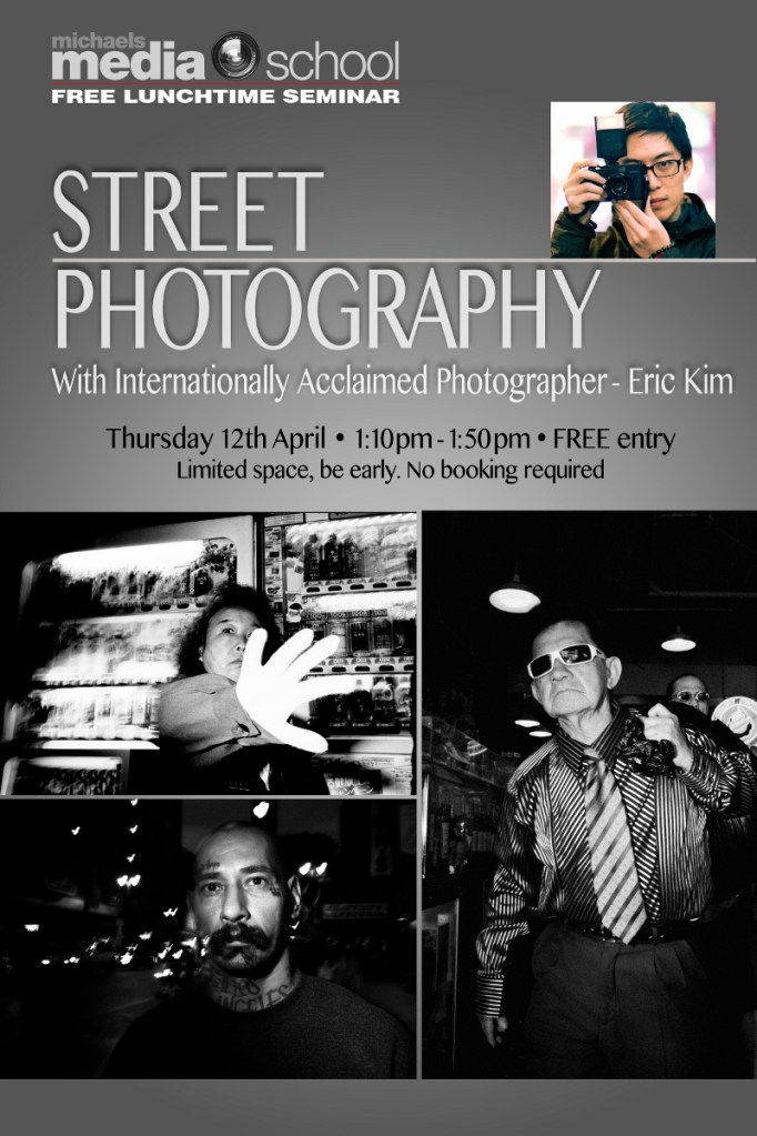 Free Lunchtime Seminar at Michaels' Camera in Melbourne, Thursday 4/12 from 1-2pm