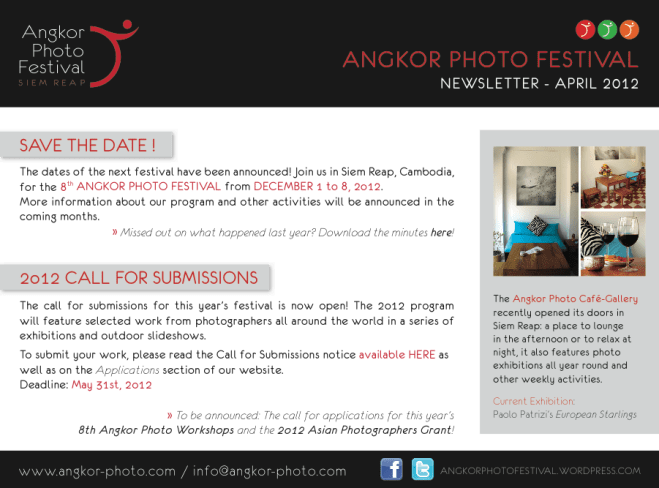 Call for Submissions: 2012 Angkor Photo Festival in Siem Reap