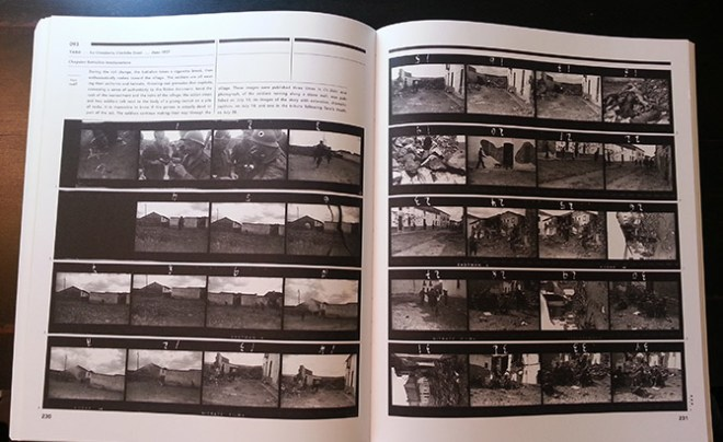 A full-page spread of Taro's contact sheet. You can see an explanation and background information about each roll in the top left corner.