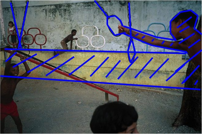 Figure 14: Note how the background connects with the kid in the far right (who is in the midground)