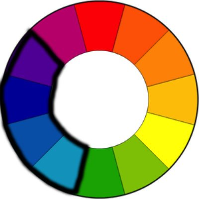 Cool colors on the color wheel