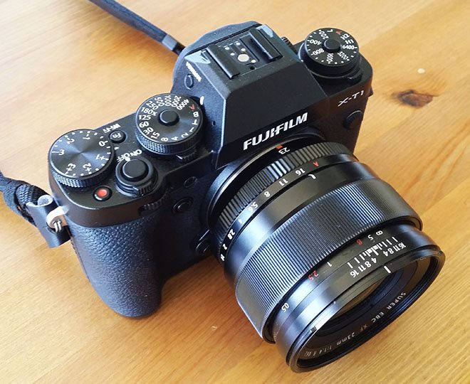 The X-T1 paired with the 23mm f/1.4 Lens