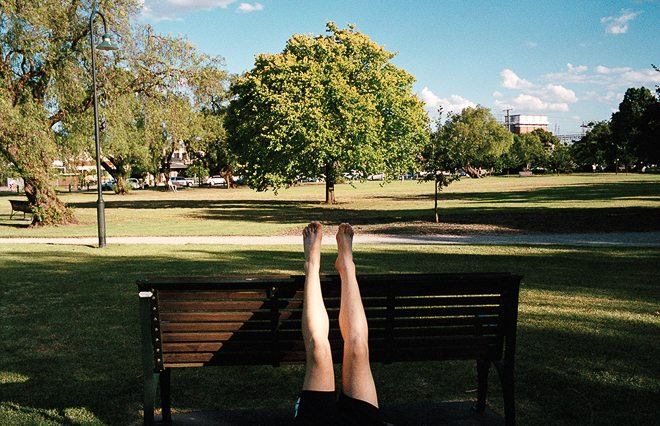 Barefeet in the park