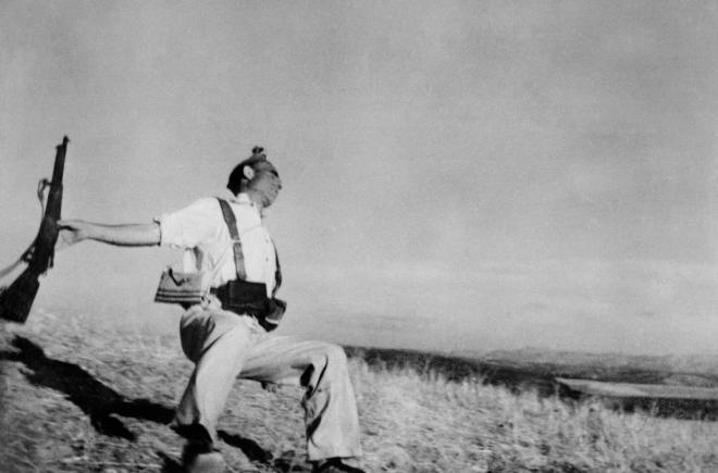 Robert Capa / SPAIN. Cordoba front. September, 1936. Death of a loyalist militiaman.