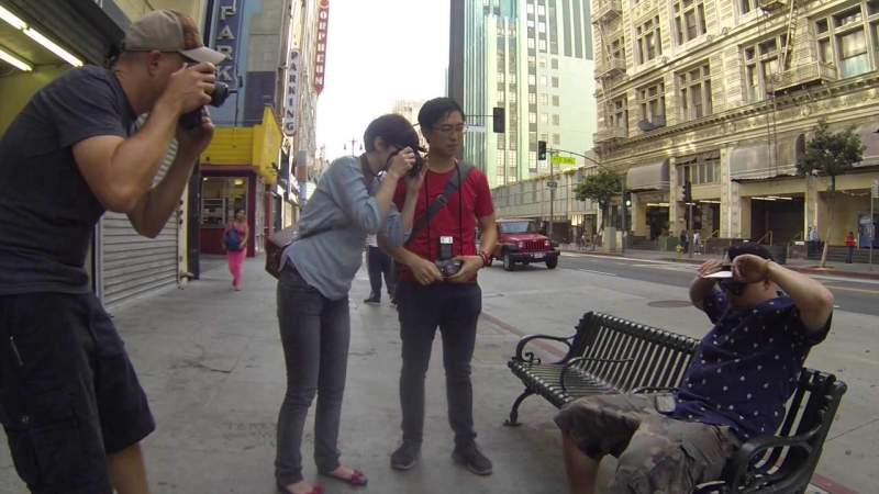 Shooting the Streets of Downtown LA in my Introduction to Street Photography Workshop