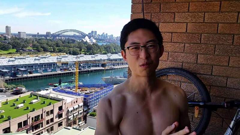 Eric Kim Ice Bucket Challenge in Sydney