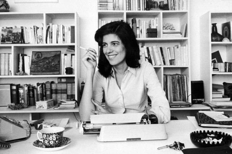 """Portrait of Susan Sontag, author of """"On Photography"""""""