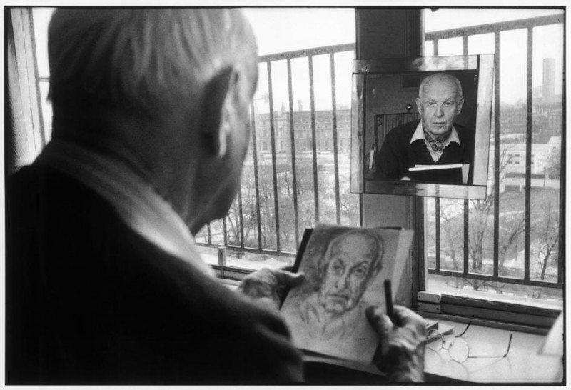 Portrait of Henri Cartier-Bresson by Martine Franck FRANCE. Paris. 1992.