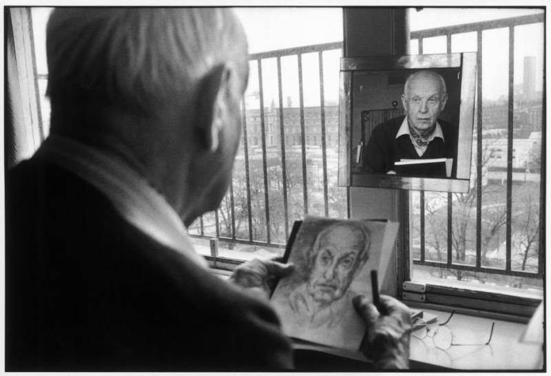 Portrait of Henri Cartier-Bresson by Martine Franck FRANCE. Paris. 1992.