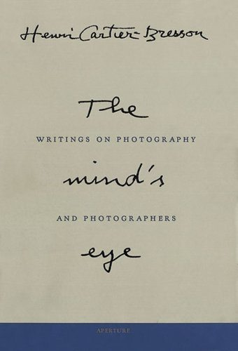 """The Mind's Eye"" by Henri Cartier-Bresson. You can pick up a copy on Amazon here."