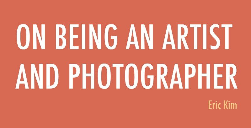 on being a photographer and artist cover