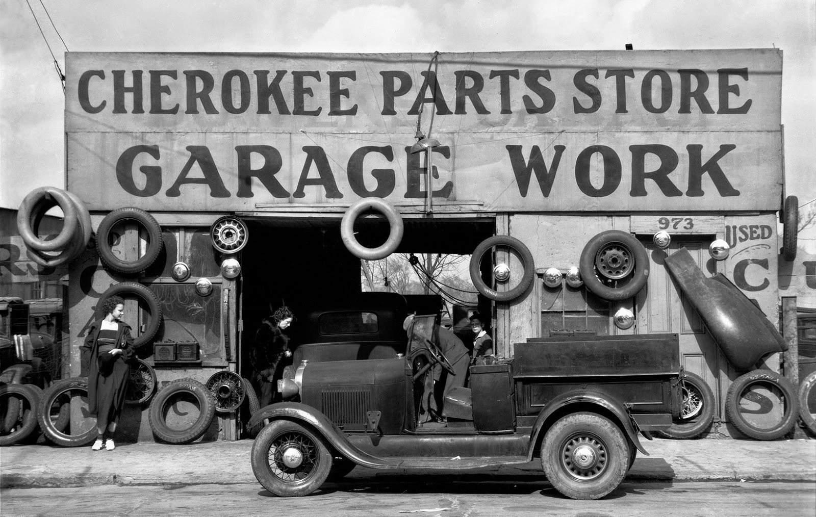 Auto Parts Shop, Atlanta, Georgia, c.1936. By Walker Evans