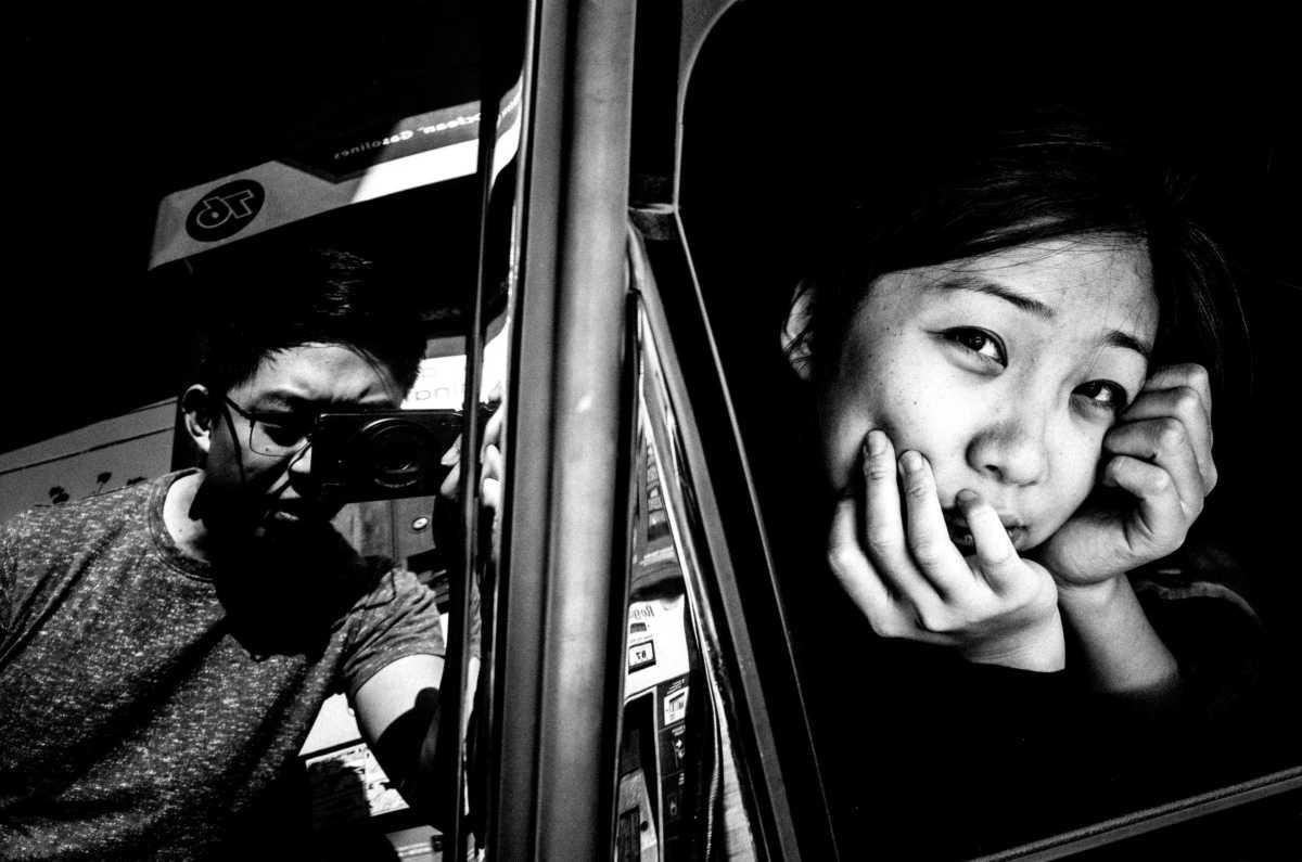 Selfie with Cindy in car. Berkeley, 2016.