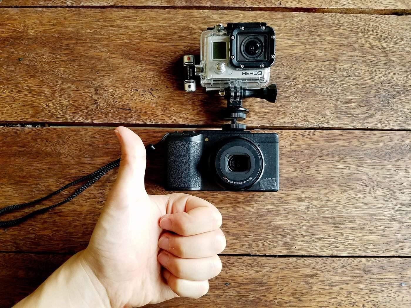 My Ricoh GR II + GoPro Setup