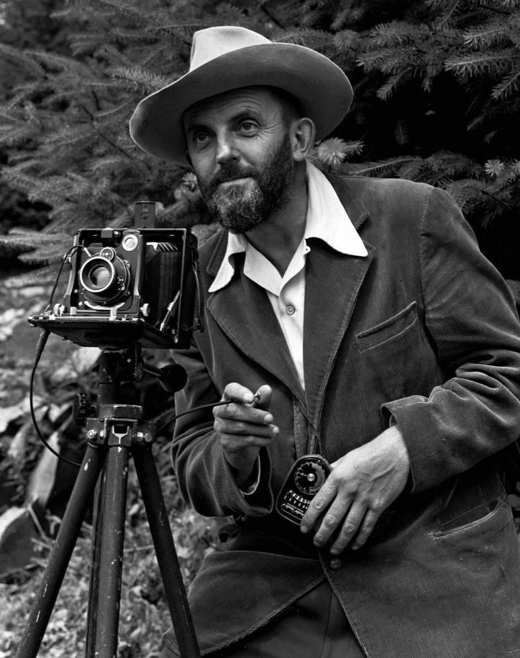 Ansel Adams and his camera