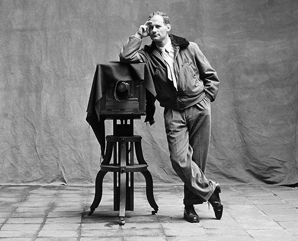Irving Penn with his camera © Irving Penn Foundation
