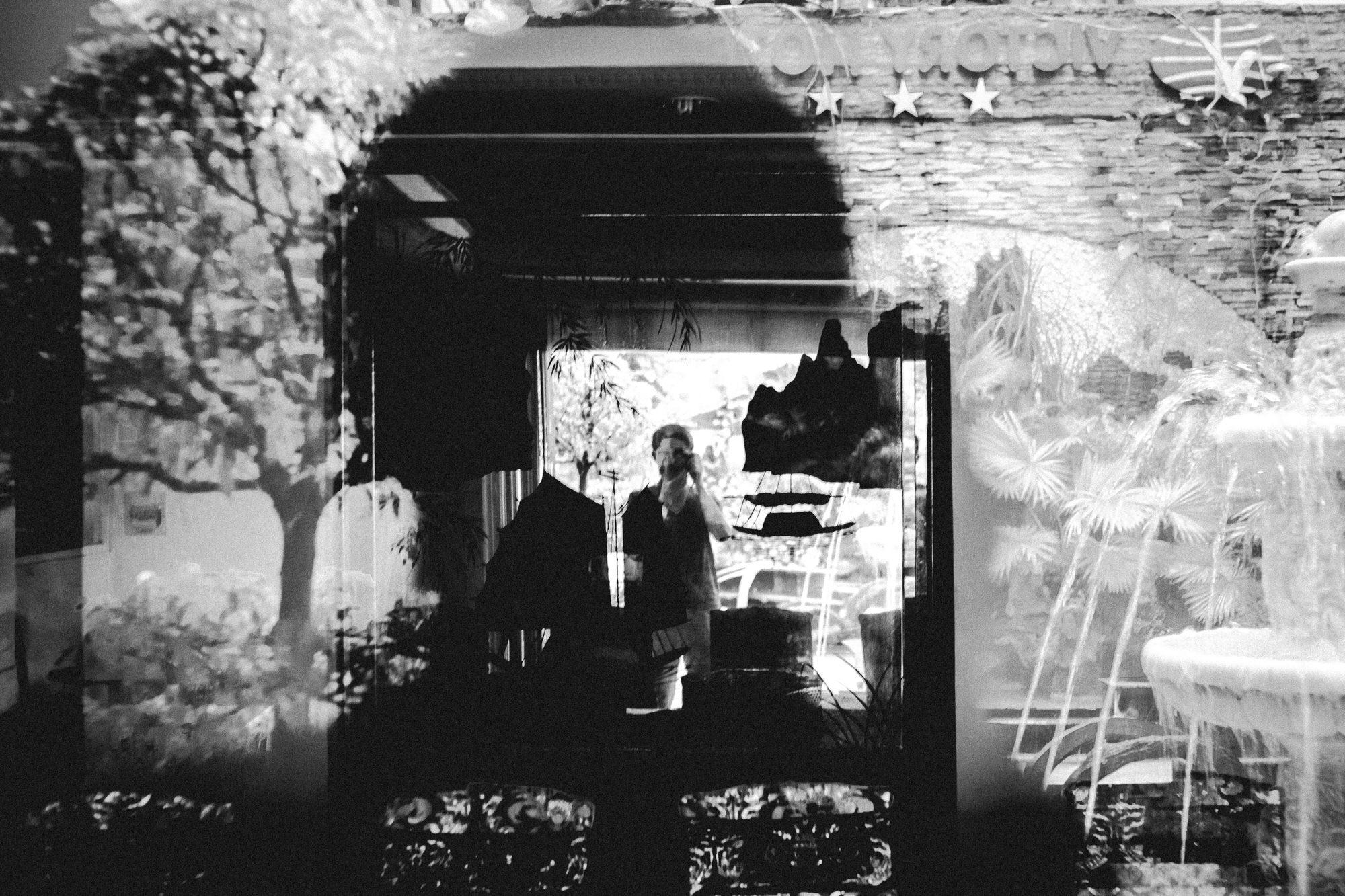 Selfie inside frame. Saigon, 2015
