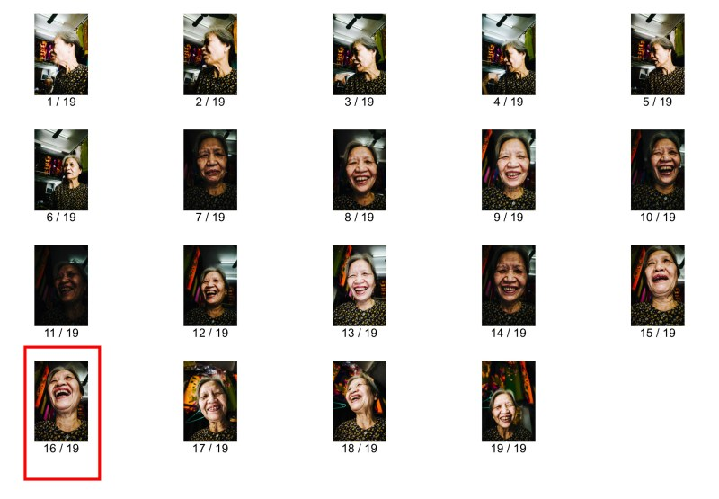 laughing lady hanoi contact sheet eric kim