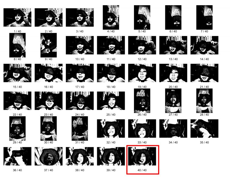 eric kim photography contact sheet cindy hat