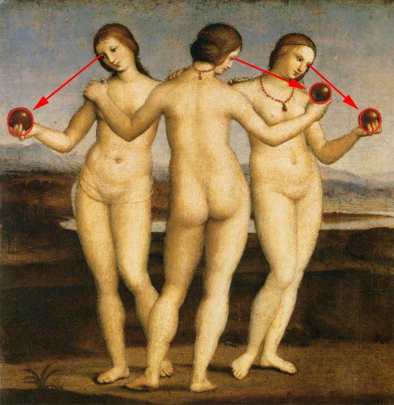 Raphael-Sanzio-The-Three-Graces-composition-three-eric-kim