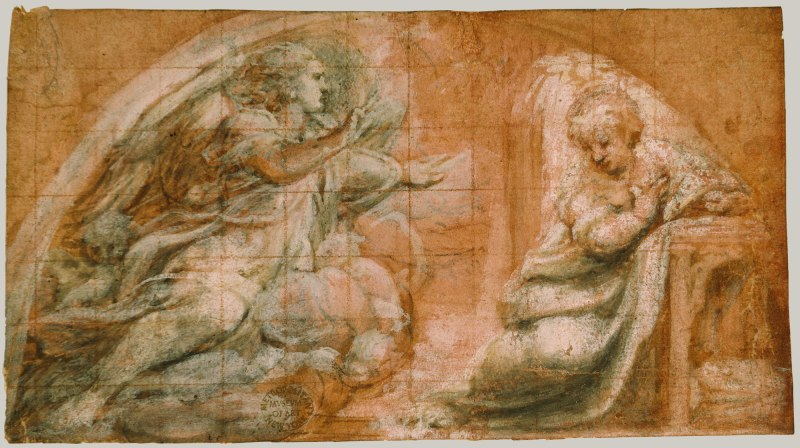Working Title/Artist: The Annunciation Department: Drawings & Prints Culture/Period/Location: HB/TOA Date Code: 08 Working Date: ca. 1522-25 photography by mma 1982, transparency #2B scanned by film and media (jn) 6_26_02