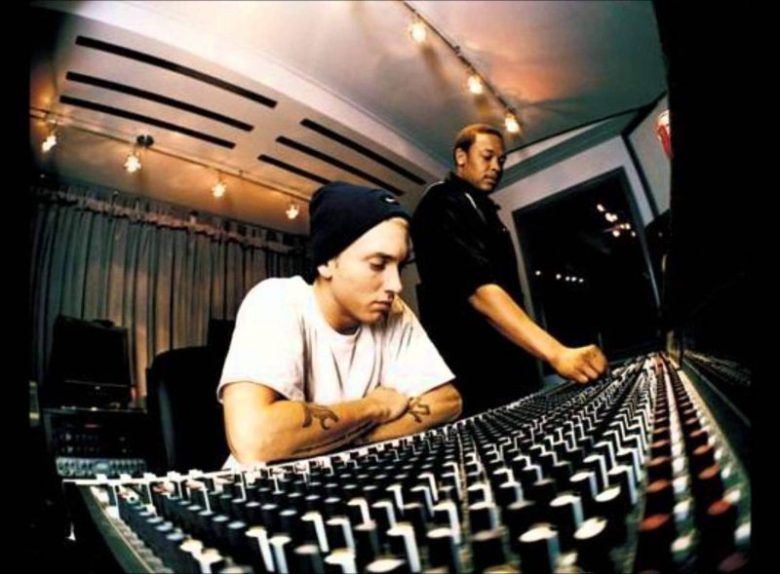 dr dre and eminem in the studio