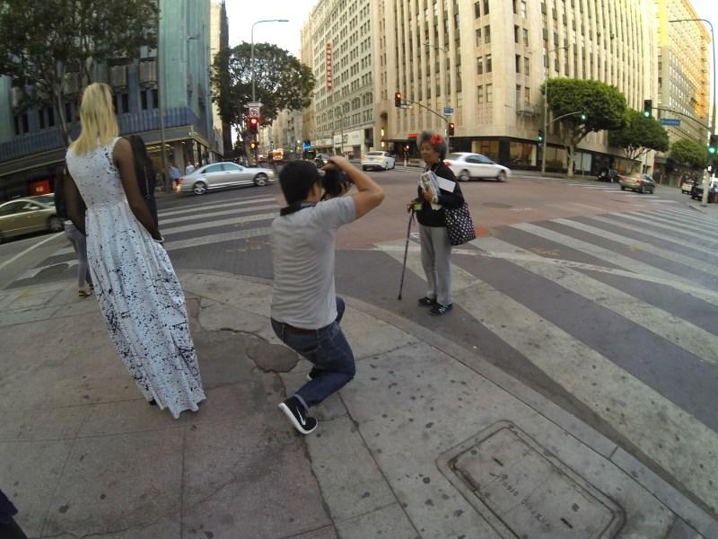 eric kim behind the scene maria MADRILES street portrait