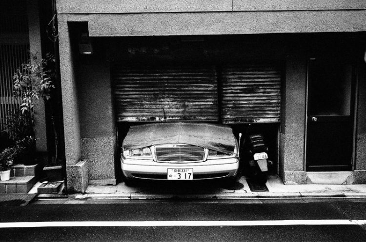 Kyoto, 2015. Photographed on Kodak Tri-X 400 film pushed to 1600 / with yellow filter