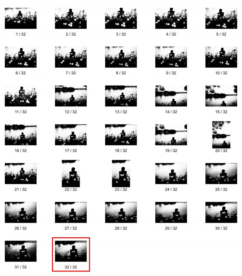 Contact sheet of man in Hanoi. I didn't realize the best shot was until the very end.