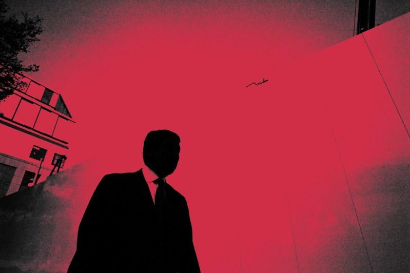 Dark skies over Tokyo red