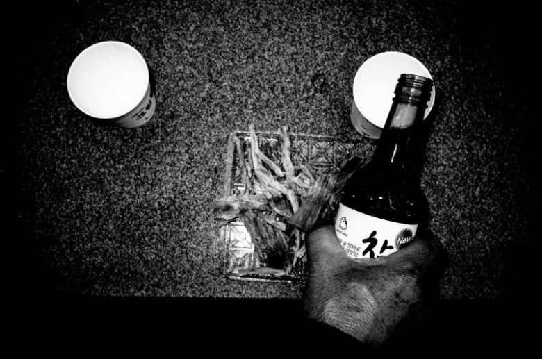 Pouring Soju for my grandfather. Busan, 2016