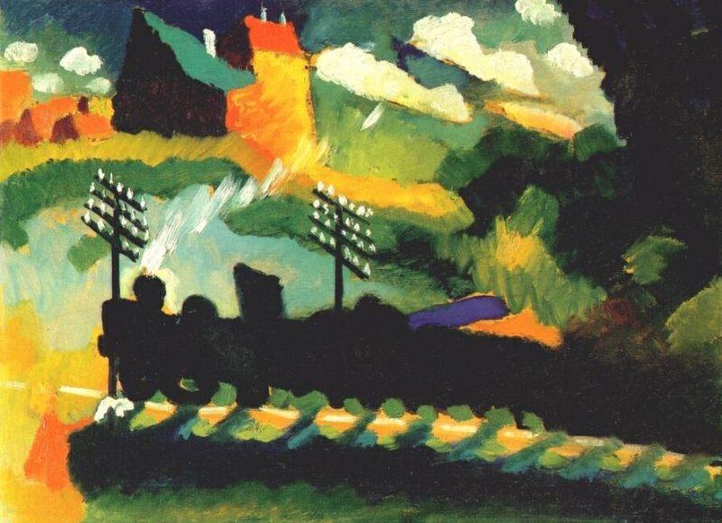 Vassily_Kandinsky,_1909_-_Murnau_train_et_château