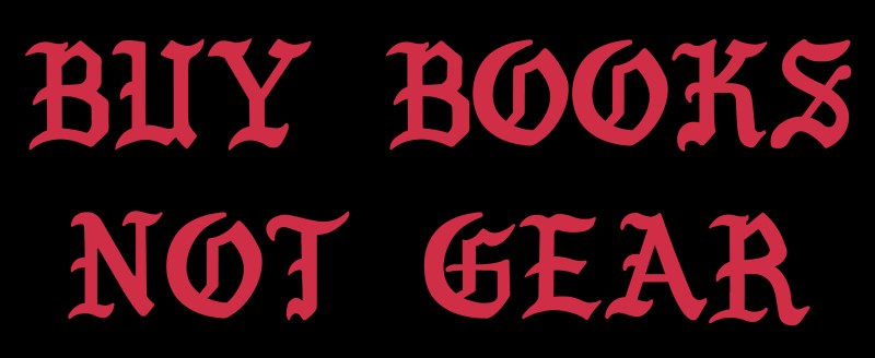 buy books not gear eric kim
