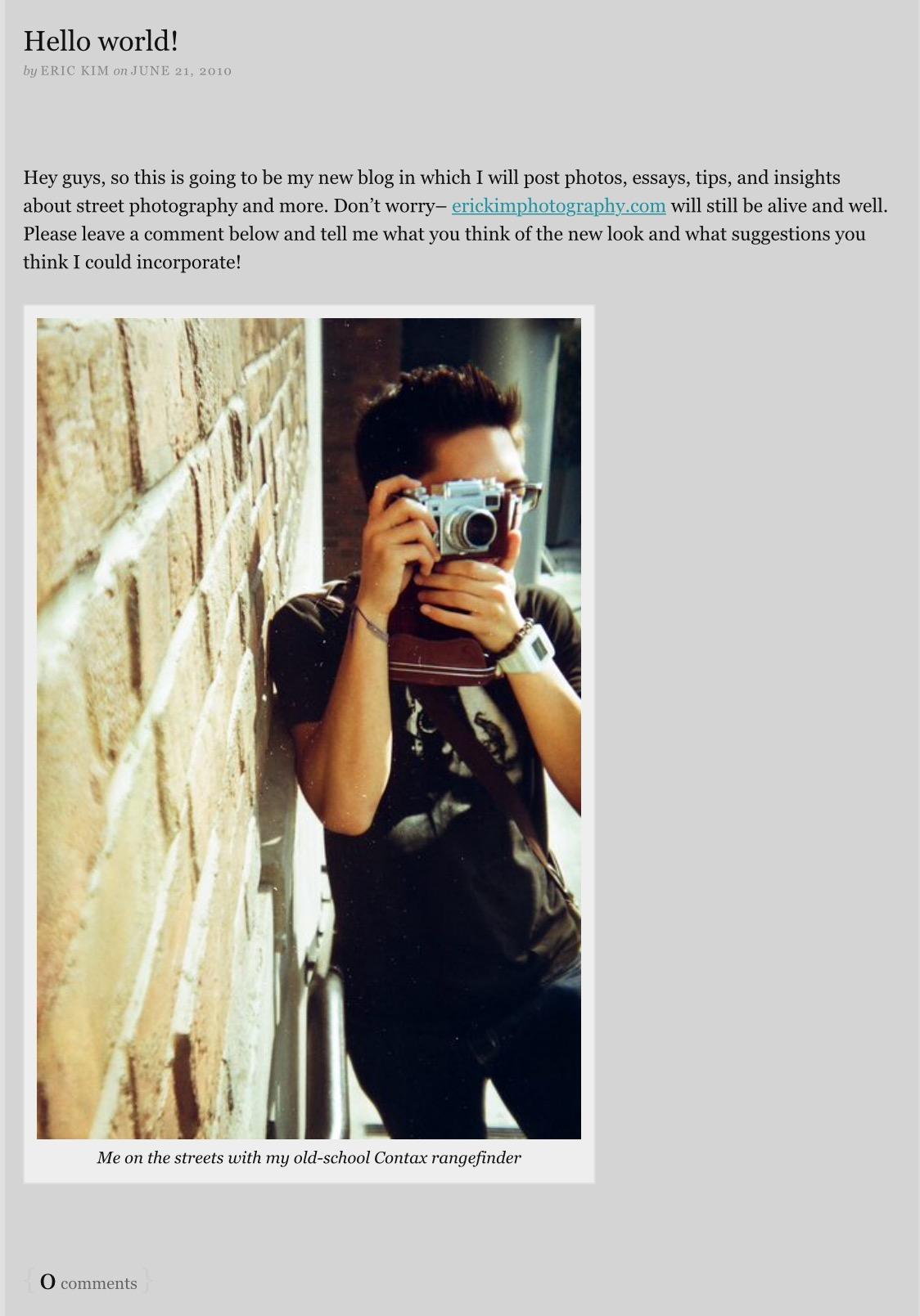 Photography Blogging Ideas