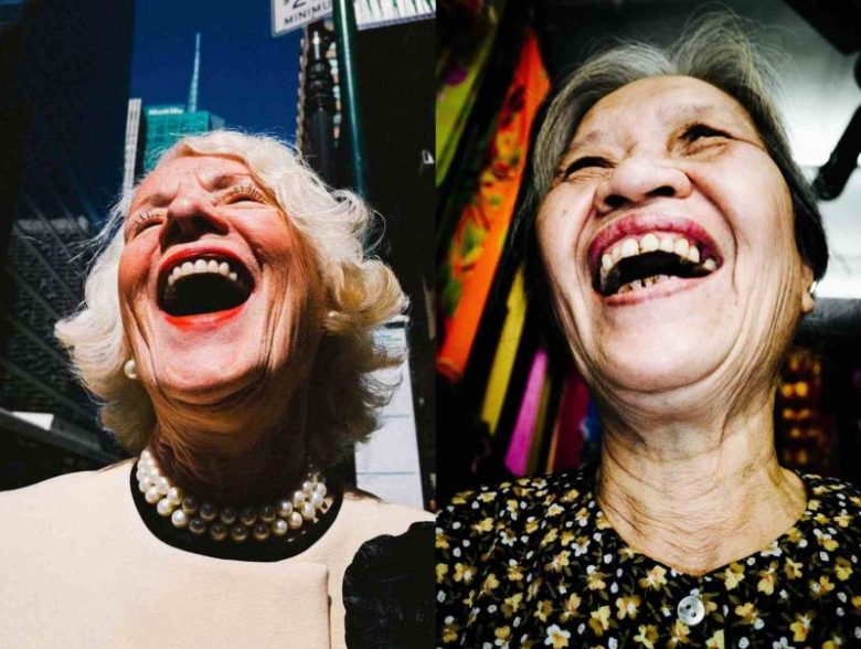 Eric kim street photography laughing ladies NYC hanoi