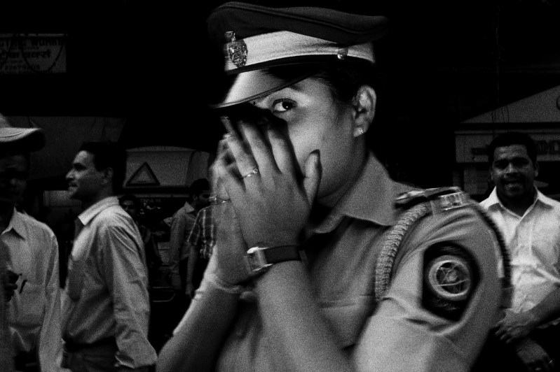 Whisper. Woman cop in Mumbai, 2011